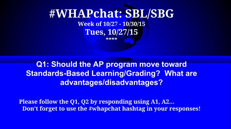 Thumbnail for #WHAPchat: Standards-Based Learning/Grading