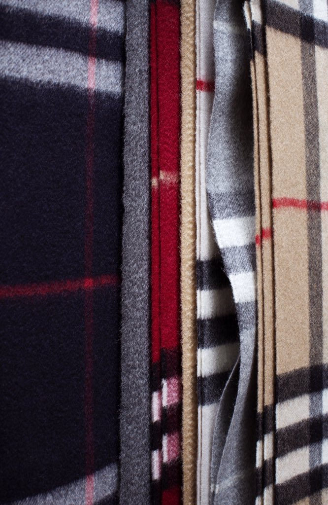burberry on quot the classic scarf made in scotland