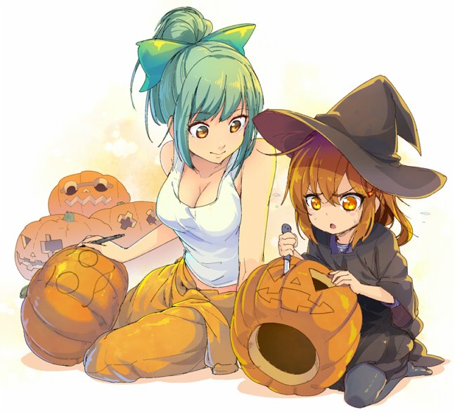 ハロウィンに備えてかぼちゃランタン作り pic.twitter.com/2NJEBqfZye