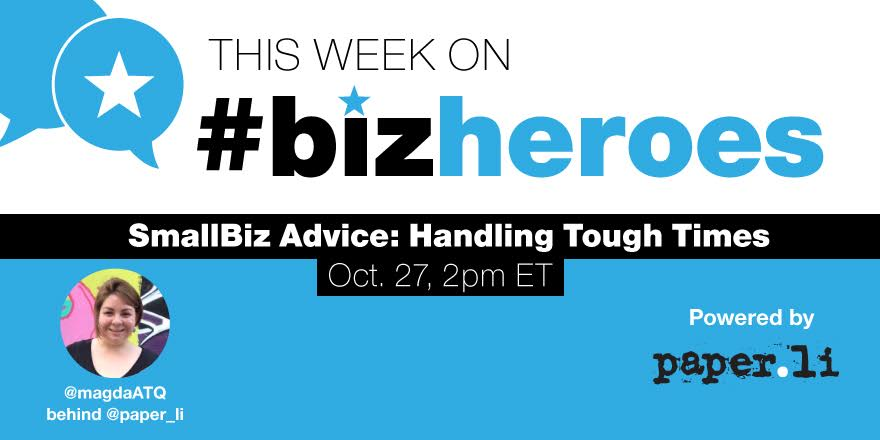 Hi all, are you ready? #BizHeroes starts in less than 10 minutes!! https://t.co/9aehoUiHmV