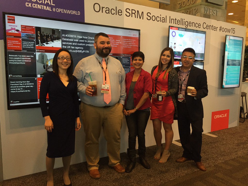 @oraclesocial is on fire @ #OOW15! #CX https://t.co/9ZdZc8Ui6w
