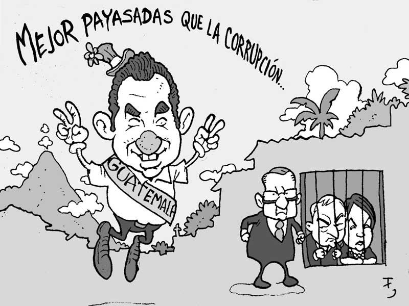 Resultado de imagen para Caricatura de Jimmy Morales