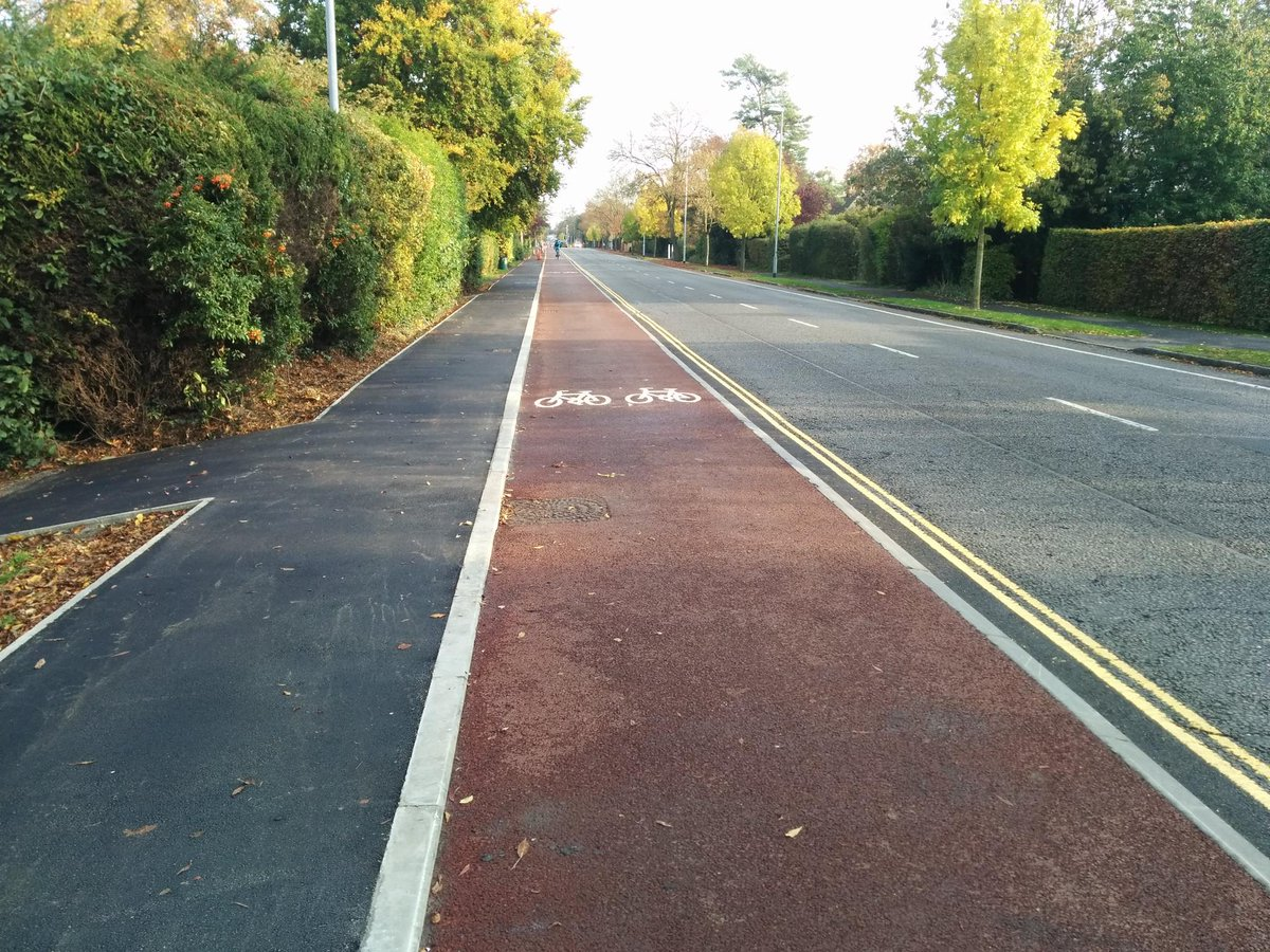 Finished section complete with painted markings on Huntingdon Road https://t.co/HUvHFnV7qc