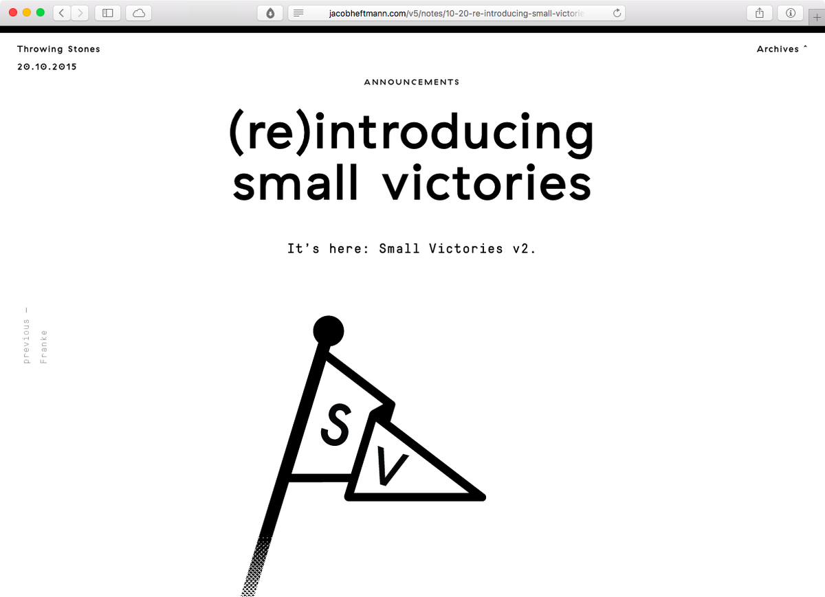 Until we get the full site up, you can read more here →  (Re)introducing Small Victories: https://t.co/E3x05cVqM9 https://t.co/LZEMrhSVE8