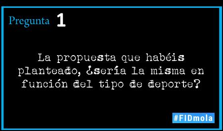 [Chat] aquí tenéis la primera pregunta #FIDmola (no olvidéis el hashtag en todos los tuits) https://t.co/7G6mGuew3S
