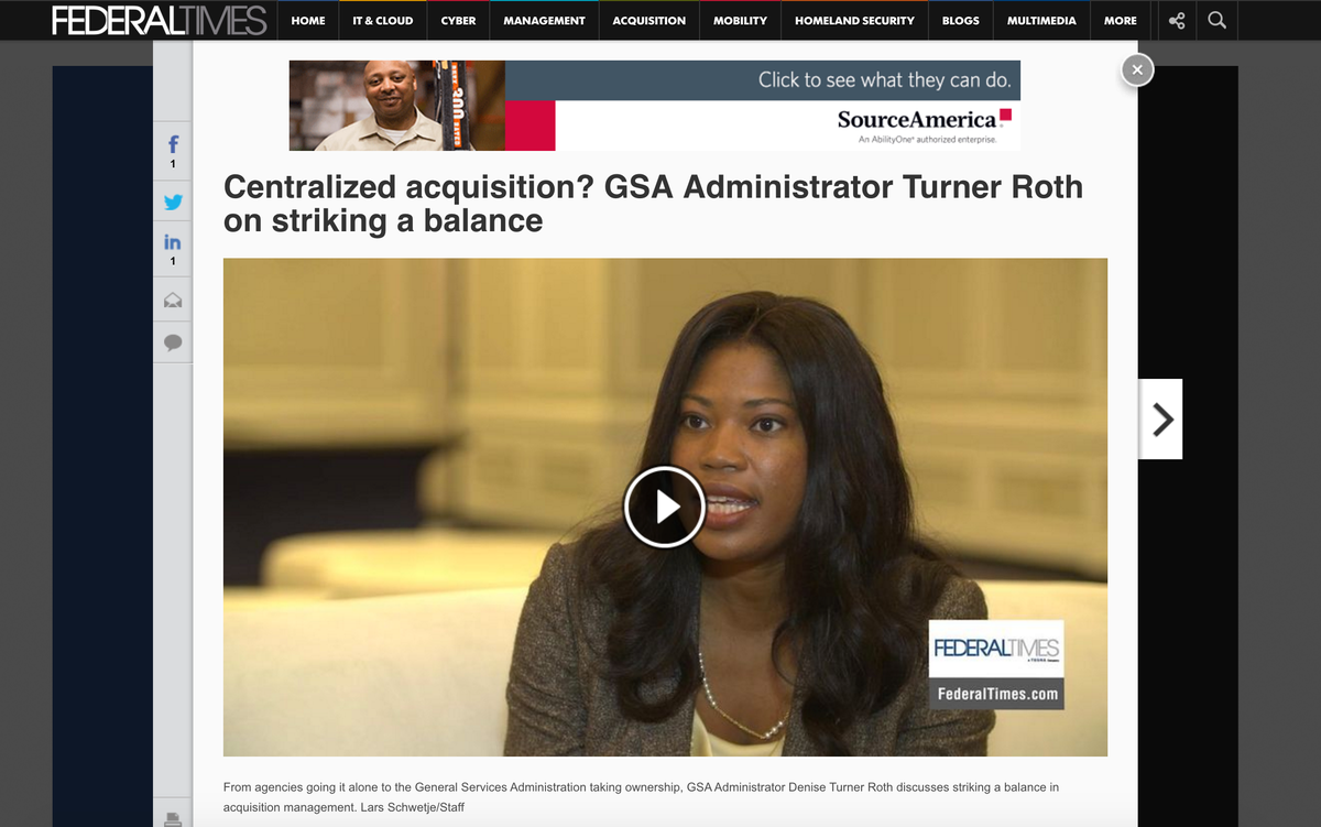 Centralized acquisition? GSA Administrator Turner Roth on striking a balance https://t.co/h4ZHLRO6AG @federaltimes