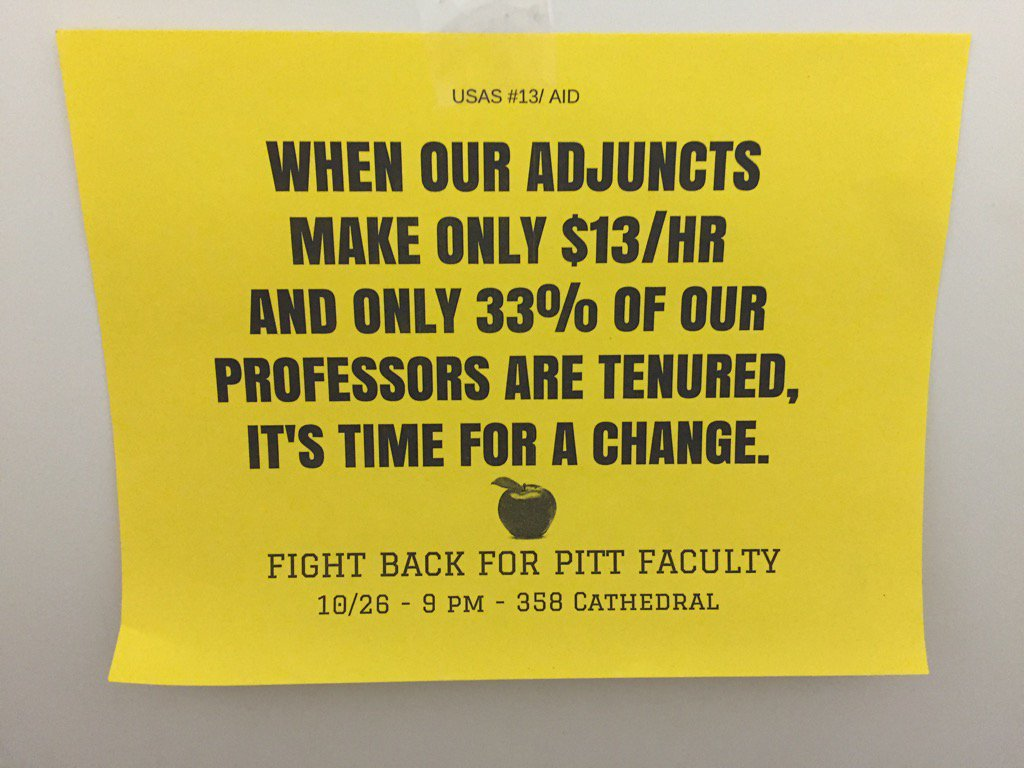 Students standing up for adjuncts! #CEW2015 https://t.co/R0SxHQl4Vm