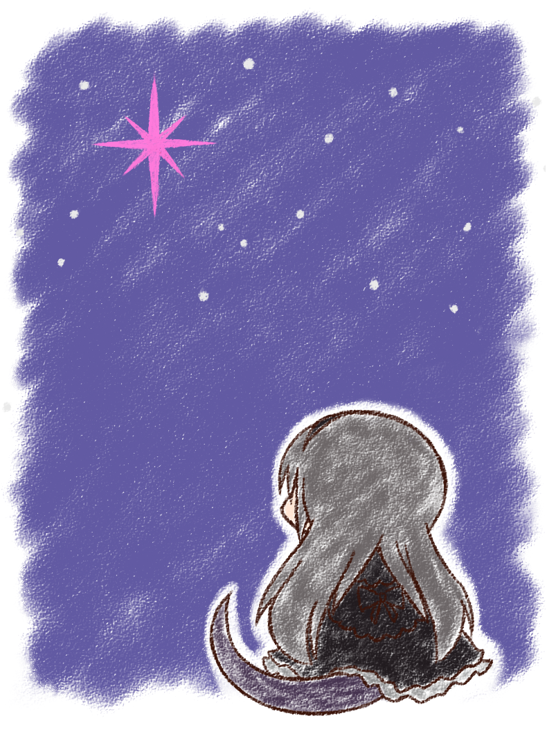 10/26の叛逆2周年おめでとうございます!!!特にお祝いっぽくもない絵ですが、以前から描きたいと思っていた叛逆RAKUGAKI-NOTEのイヌカレーさんのページにいるトカゲをほむらちゃんで描きました。地を這うトカゲとお空の輝き。