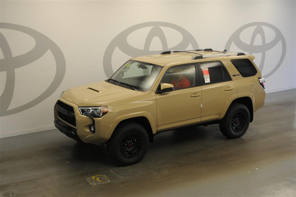 sun toyota on twitter 2016 trd pro 4runner in quicksand in stock and available for immediate. Black Bedroom Furniture Sets. Home Design Ideas