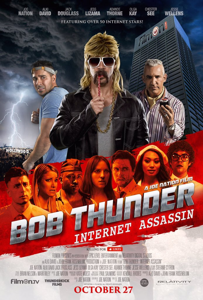 What's happening?  This is happening!  #BobThunderMovie https://t.co/QhsHYuSF3a @JoeNationTV makes the movies! https://t.co/BXunci9IQ7