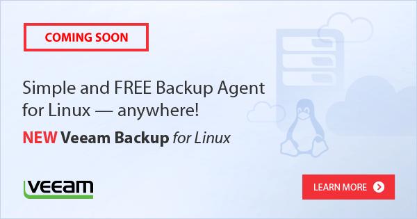 Announcing: #Veeam Backup for Linux! https://t.co/wrq421TtVM #VeeamON https://t.co/ERm6luERC0