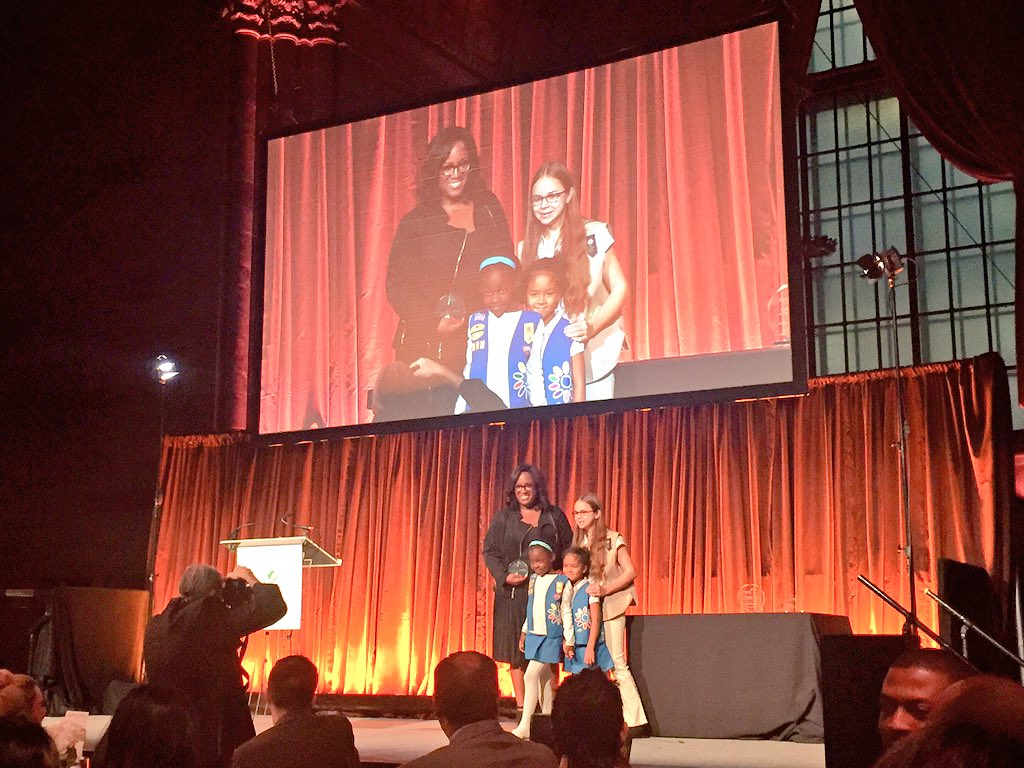 Congrats to our Chief Diversity Officer, @DiverStar, on being a 'Women of Distinction.'  @GirlScoutsNYC #GSWOD2015 https://t.co/8GcXqzdAwb