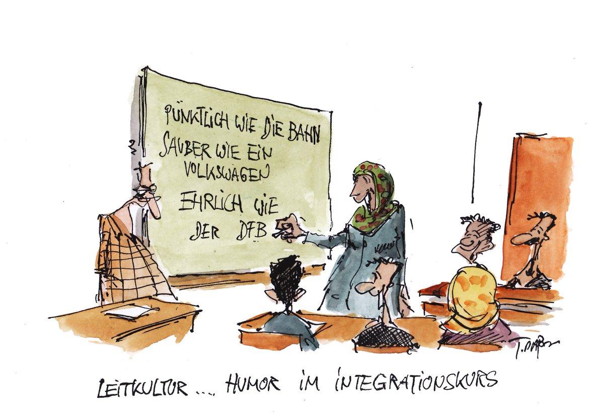 Leitkultur... Humor im Integrationskurs. Unsere heutige #Karikatur: