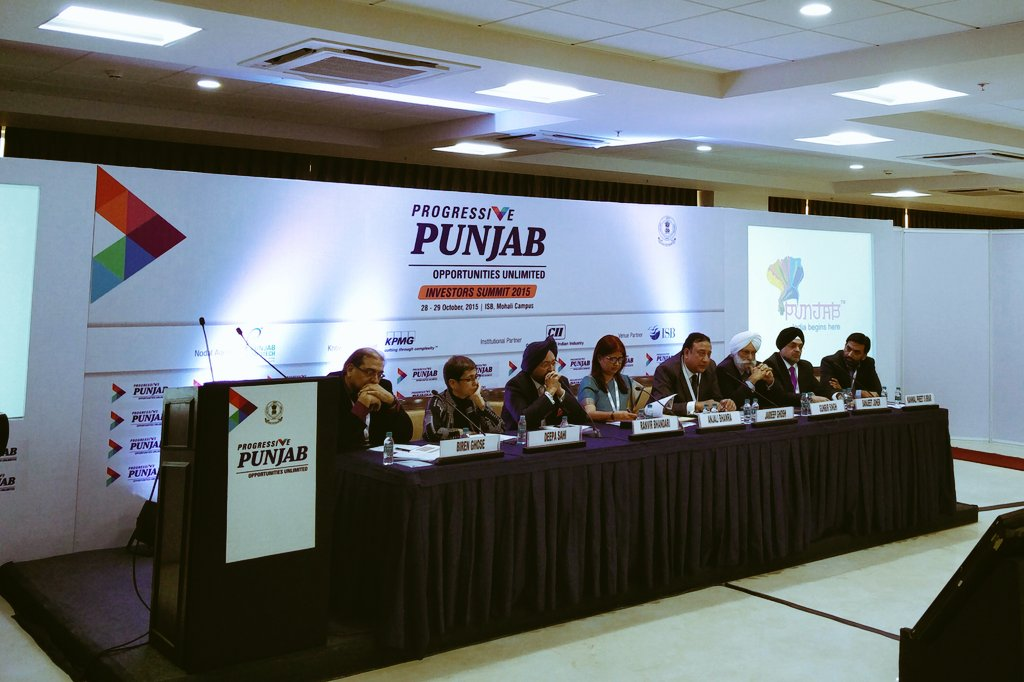 Panel on business opportunities in tourism at #ProgressivePunjab at ISB's Mohali Campus. #InvestinPunjab https://t.co/1doLvt7o2e