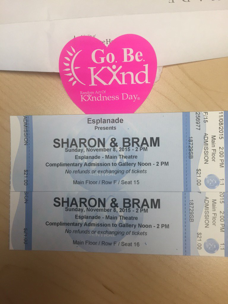 Received my first RAK today!! Tickets for Sharon & Bram @EsplanadeStage this weekend! #medhat #whoopwhoop @RakDayMH https://t.co/nNoY1RRjFO