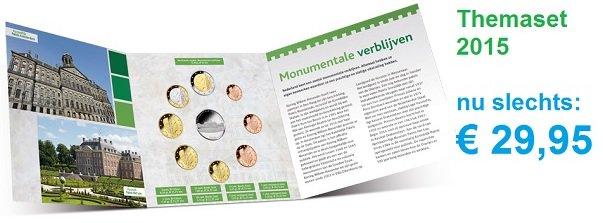 the Netherlands - coinset mintset - themeset 2015: Royal Residences  collectcoins.com/NederlandBUbij…