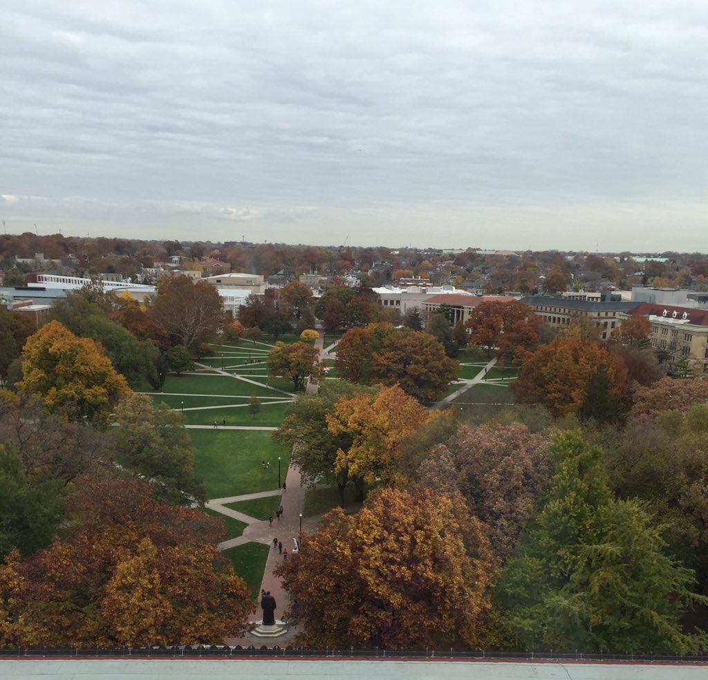The Ohio State University library view from the 11th floor for Treasure Mountain #TM2015 inspiring #aasl15 https://t.co/f5t8xIEKy2