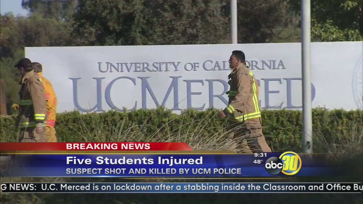 UC Merced 5 stabbed – ban assault knives now!