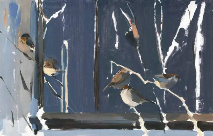 Esther Tyson's Winter Sparrows on show in Concrete Nature, Stamford @networks4nature https://t.co/o8UIy0NZiI
