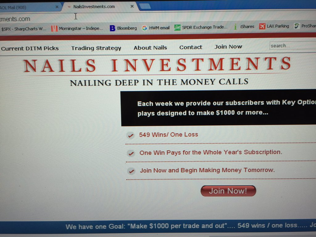 @ReformedBroker his website is still going. 549 winning trades, 1 losing trade. Regulators?  Anyone?