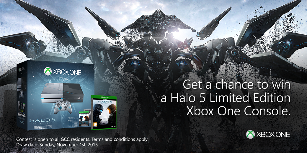 Here's your ultimate chance to take home the #Halo5 LE Xbox One console. Just FOLLOW & RT this tweet to win! https://t.co/xzriuS5LCq