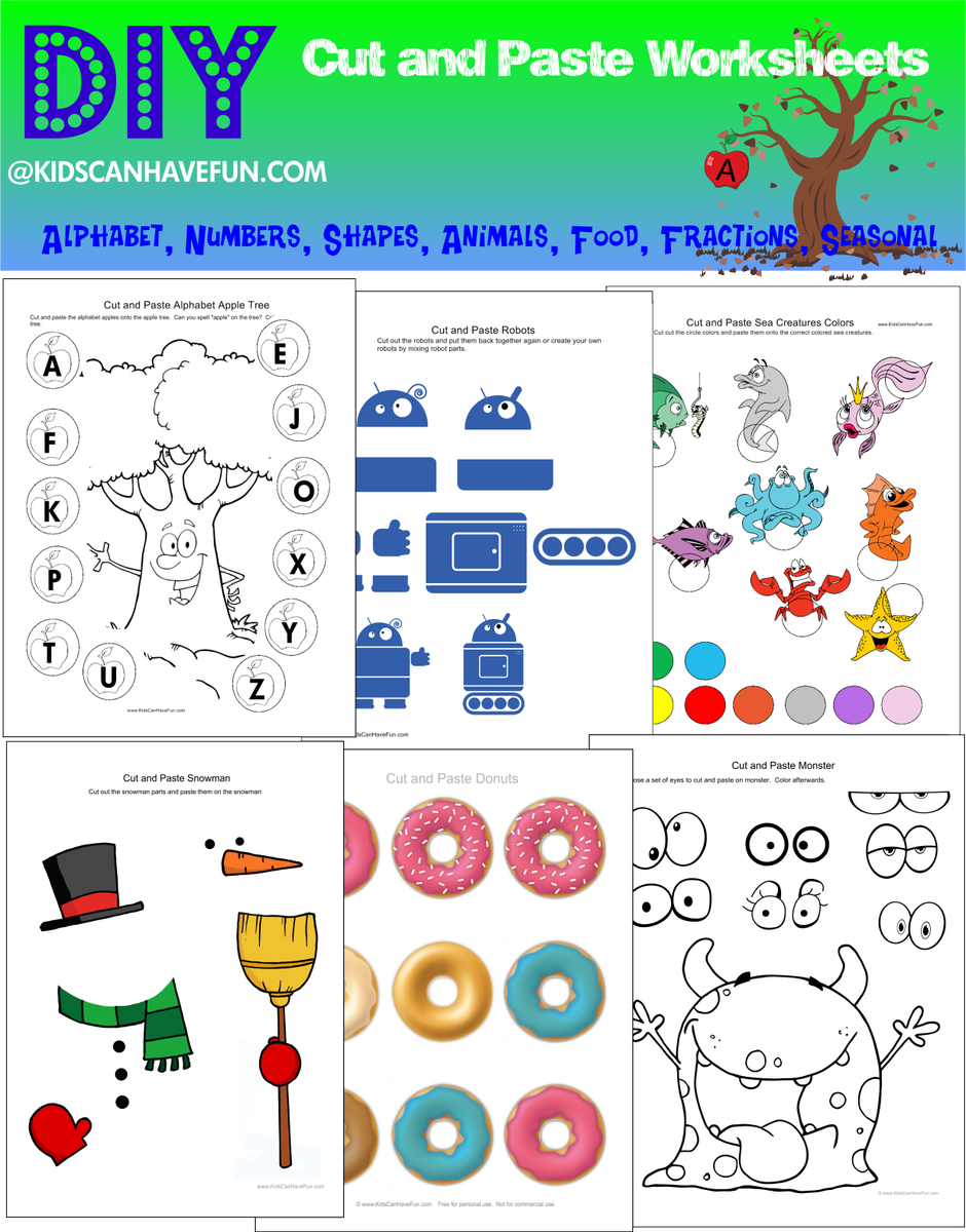 Kidscanhavefun On Twitter Diy Cut And Paste Activities And