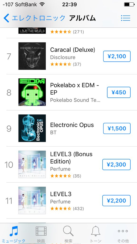 @BT @ElectronicOpus    iTunes Japan Top Electronic Album #9  #ElectronicOpus https://t.co/w6NSoDzbzp