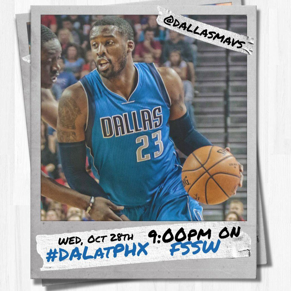 It's finally here...GAME DAY! Who's staying up late to watch #DALatPHX?? Tipoff at 9PM CT on FSSW! #LetsGetItStarted https://t.co/VQzvcy4LFi