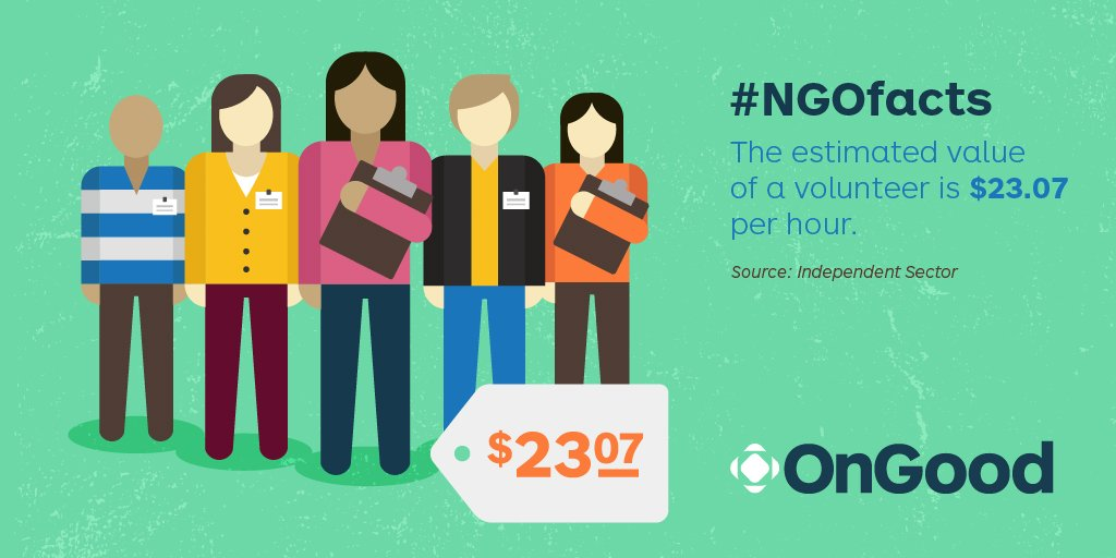 #ISEmbarks The estimated value of volunteer is $23.07 per hour: https://t.co/zKiTY6uRJQ || #NGOfacts https://t.co/J9OHdHoQQd