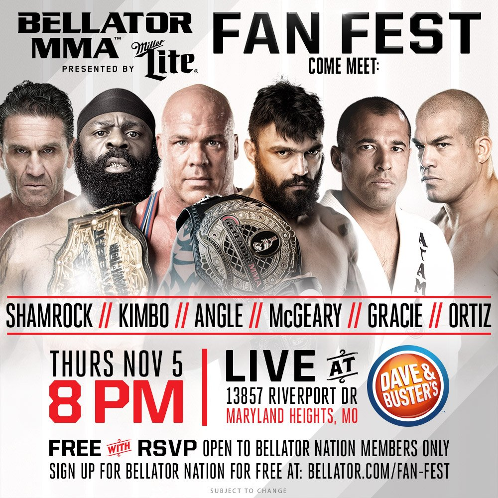 Kurt Angle to appear at Bellator MMA Fanfest on November 5