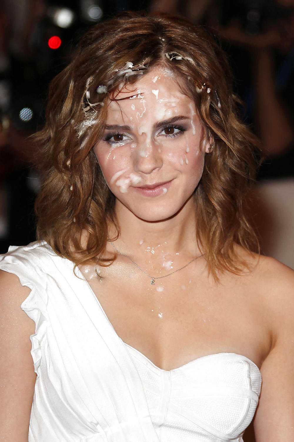 Mtg64 on Twitter: #Fake #EmmaWatson covered by #cum #