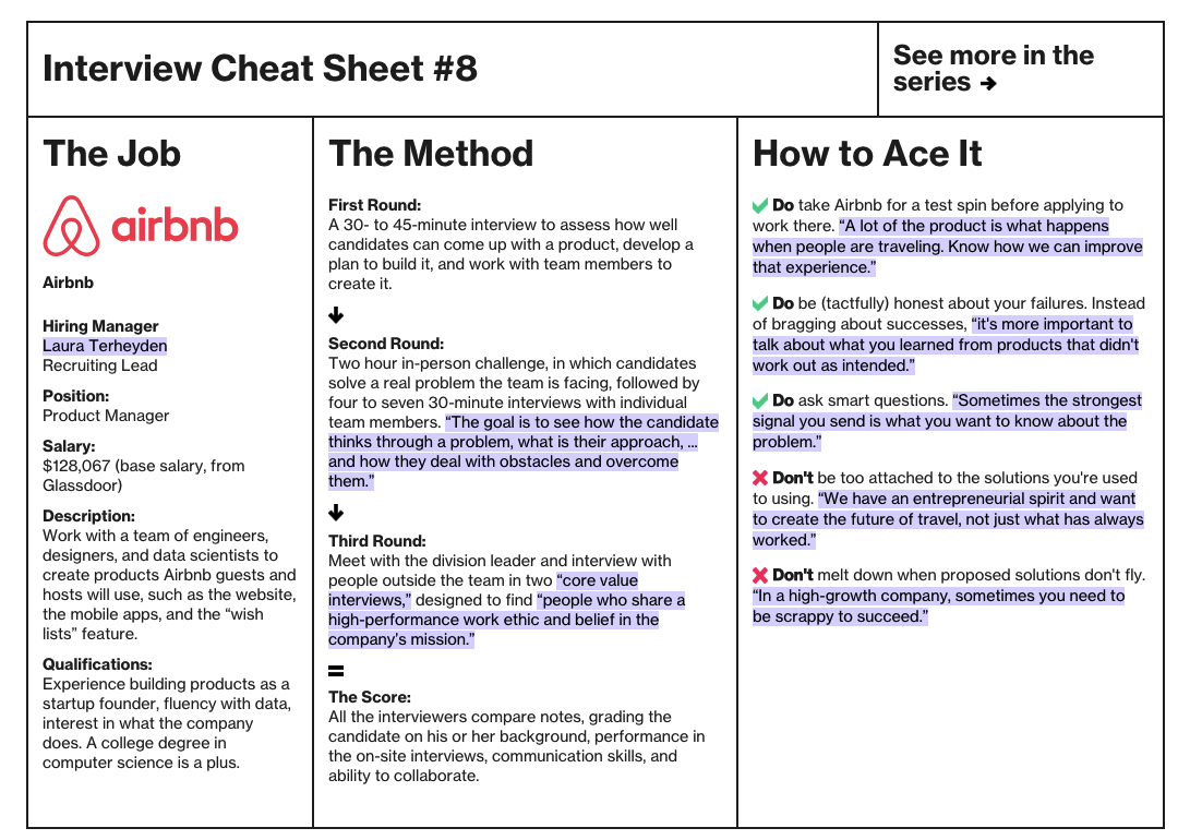 lewis c lin on twitter product manager interview cheat sheet for airbnb httpstcogstemntdpb