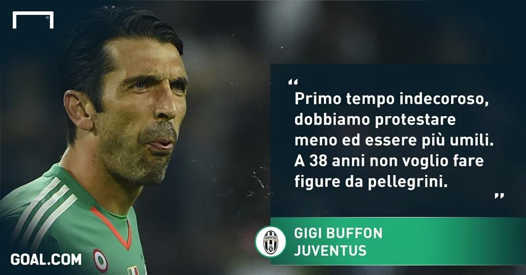 Lo sfogo durissimo di Buffon dopo Sassuolo-Juventus 1-0.