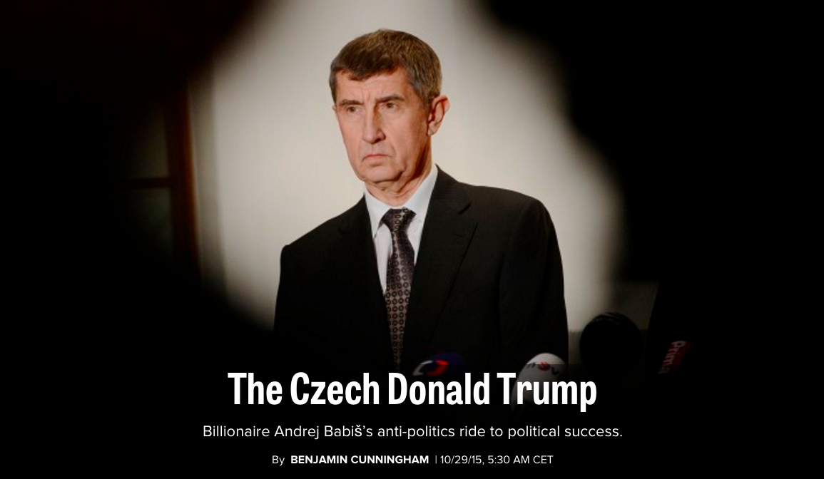 article babis czech sobotka politics trump berlusconi