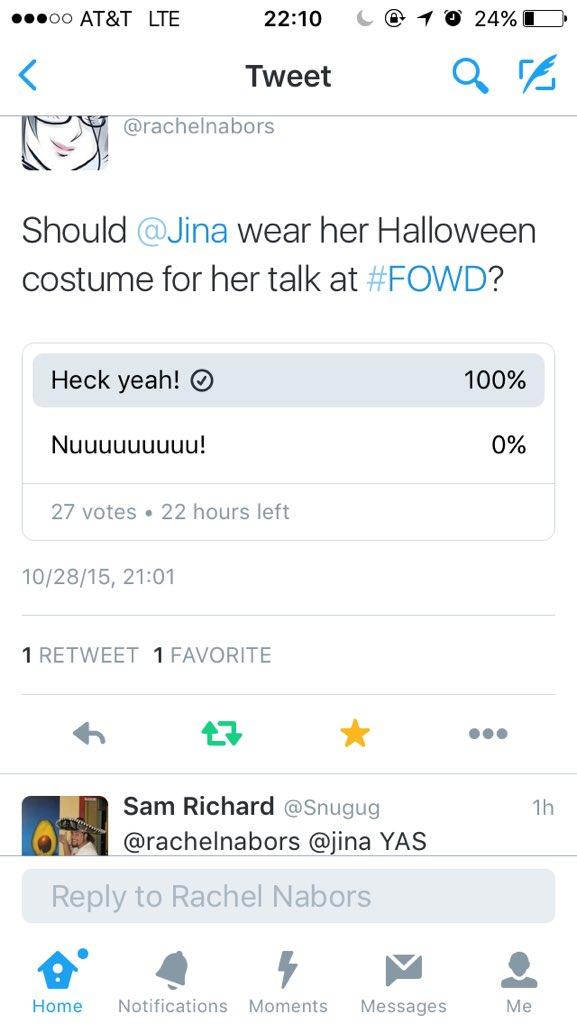 The people have spoken. @rachelnabors https://t.co/3iVy7OVV7D #fowd https://t.co/fyEPXSVTD9