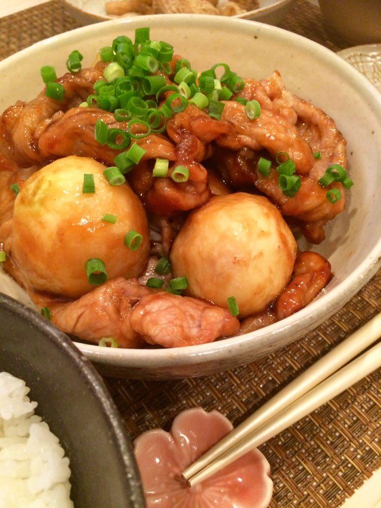 下ゆでした里芋と豚肉に片栗粉まぶして焼いて、みりん酒醤油砂糖のタレを絡めるだけです😋 クックパッドさんのレシピですがね♡(紺野あさ美)