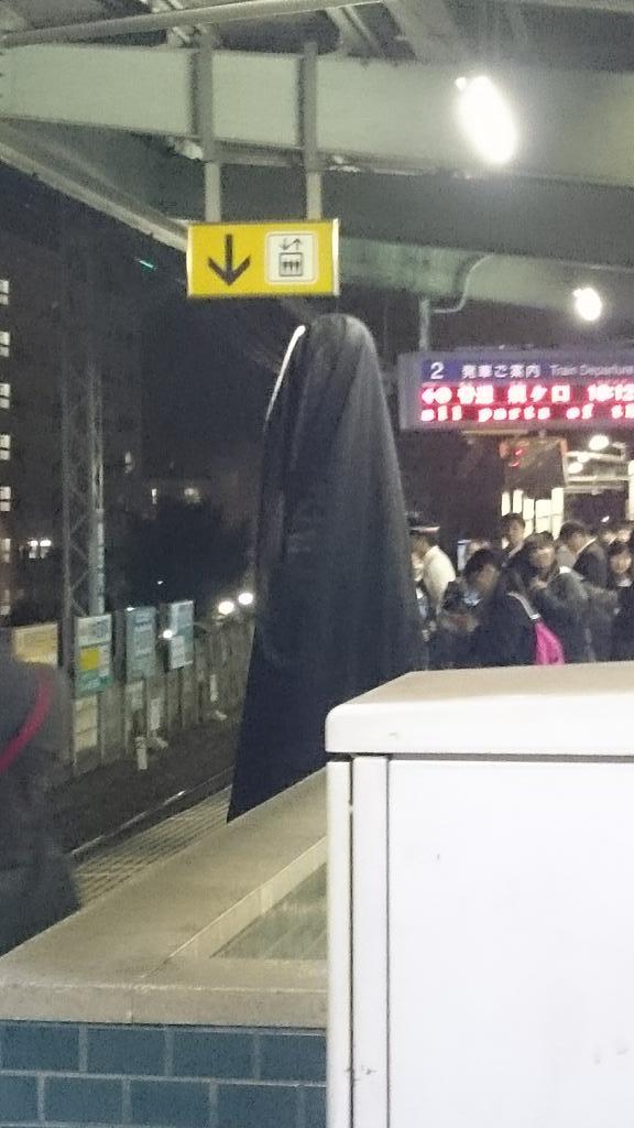 やばいやばい!津島駅にてカオナシ発見!www pic.twitter.com/XjZPF6vZnh
