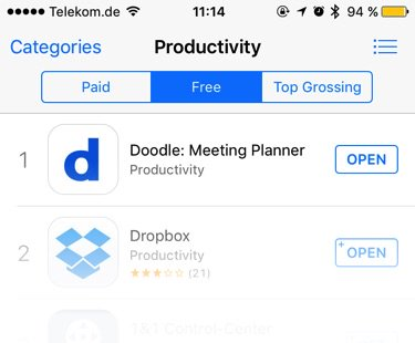 Nice! #1 in productivity, #39 overall (German AppStore) https://t.co/PdlKrzCut8
