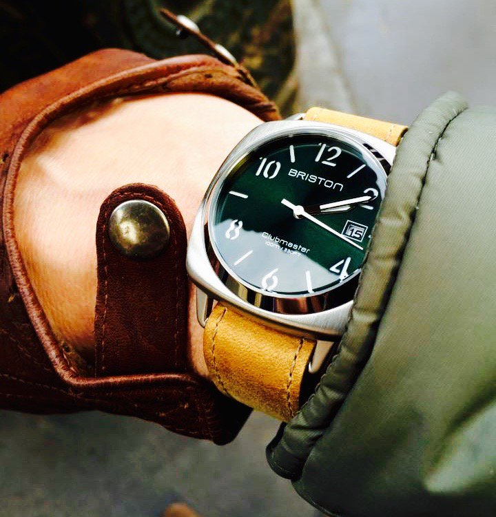 watches clubmaster and status on twitter vintage strap briston green bristonwatches chic cser casual classic watch dial hms mybriston steel