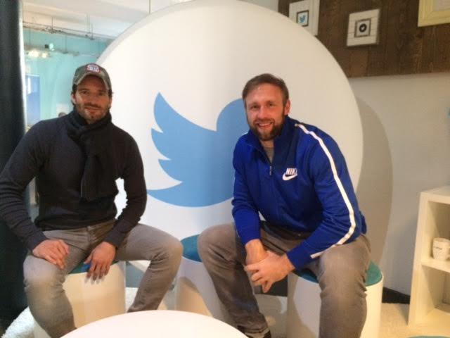 Photo of Robert Harting & his friend   -