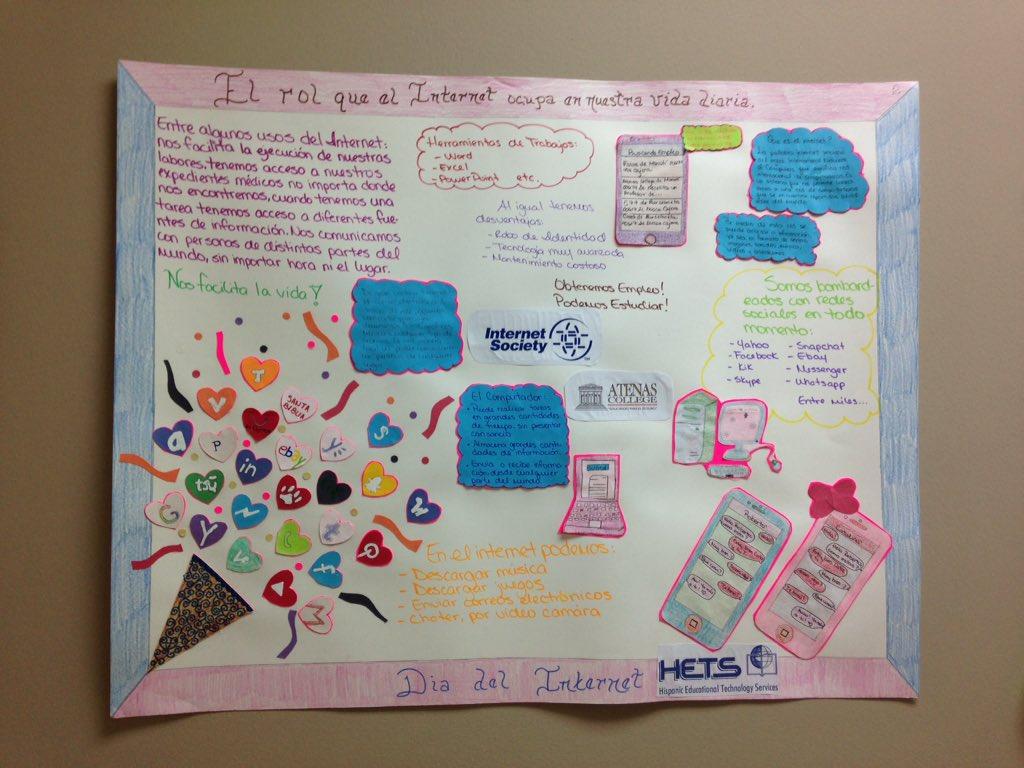 El afiche que ganó el Segundo lugar estudiante del Programa de Periferovascular #internetdaypr15 #atenascollege https://t.co/T60qJ0kKf3