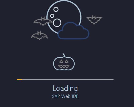 SAP WebIDE Halloween Edition. Spooky! (Kudos @EitanKoren!) #saphcp https://t.co/Li6zNqkGcE