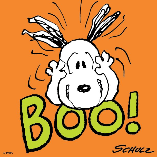 Peanuts on twitter boo - Snoopy halloween images ...