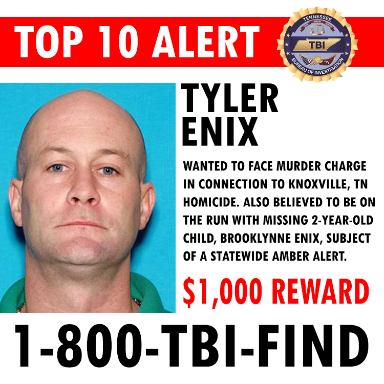 Amber Alert issued for Brooklynne Enix, 2, after her mother was found dead - Knoxville, TN CSfeBEfUkAE6-H9
