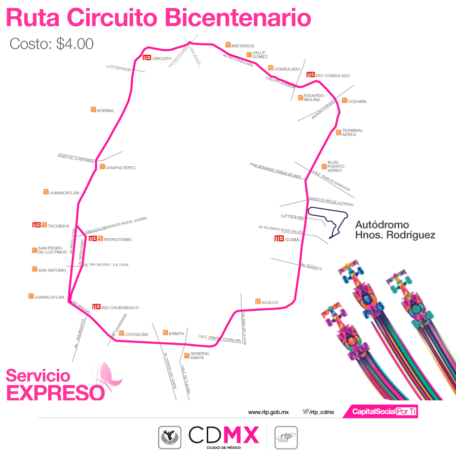 Circuito Bicentenario : Sistema m cdmx on twitter quot a través del circuito