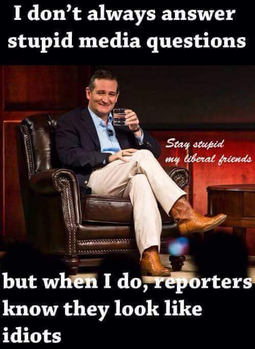 I don't always answers stupid questions from .@CNBC moderators but when I do they look like idiots- .@tedcruz #tcot https://t.co/MLWOIUm4jY