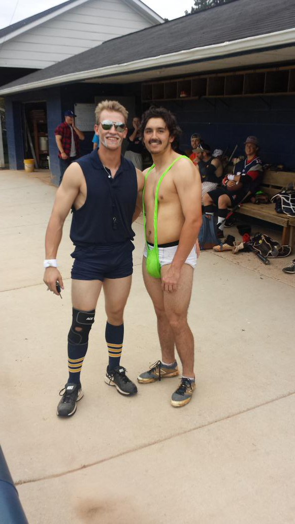louisburg baseball on twitter fav coach rick vice on the left or retweet borat on the right for the best halloween costume