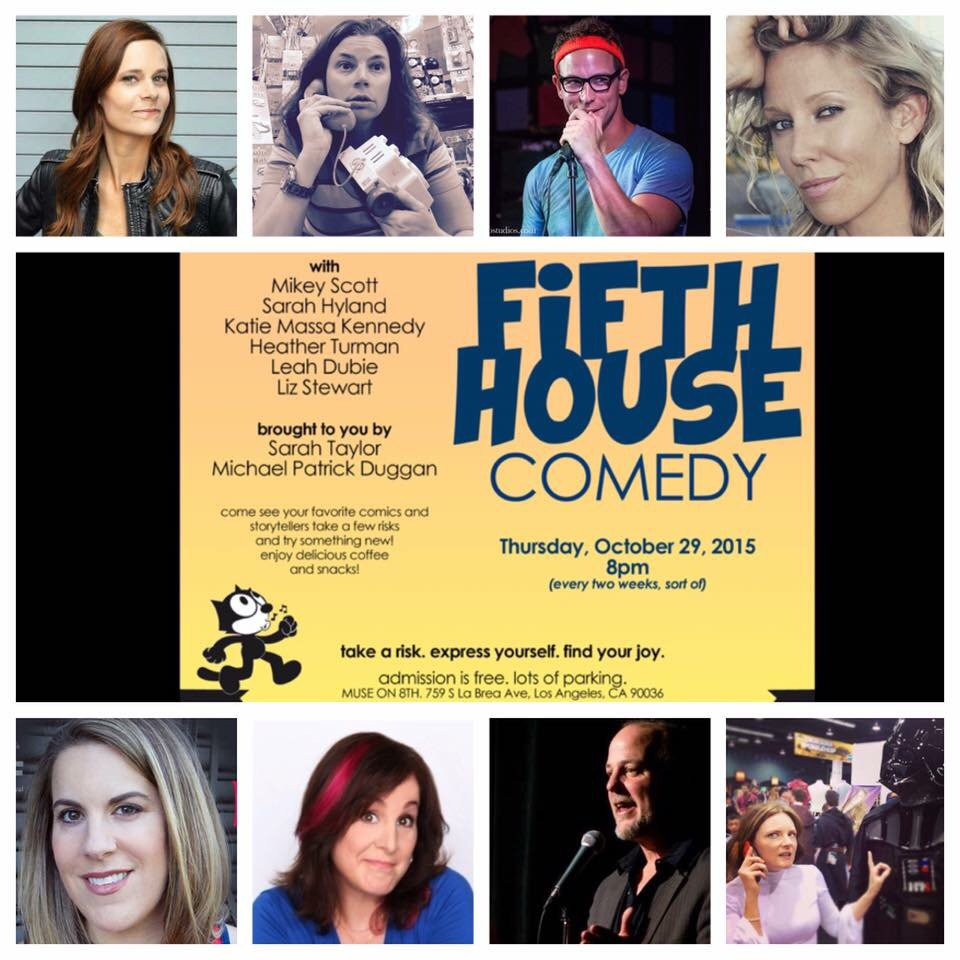 #Comedy at @MUSEcafe_LA tonight at 8 with @LizStewartComed @leahdubie @realsarahhyland @ComicMikey @katiemassa #LA https://t.co/EvTBiwtWyw