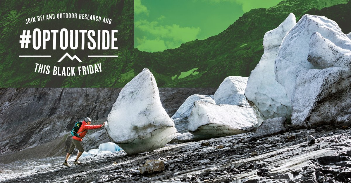 We're joining with @REI to #OptOutside this black Friday. https://t.co/vfghDCuIpZ https://t.co/nDDXqxmFUD