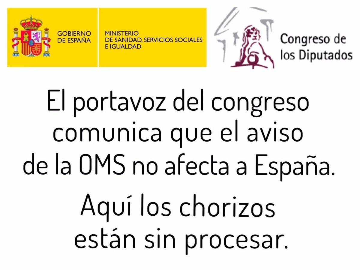 El aviso de la OMS no afecta a España https://t.co/Hmk3kdx4JG